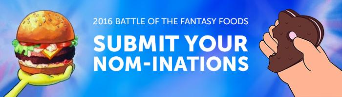 FantasyFood Nominations BlogHeader