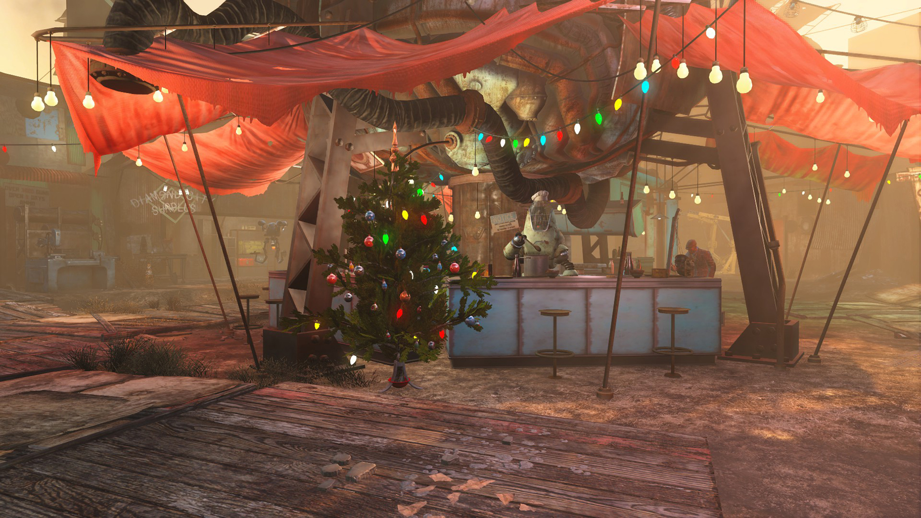 Image - FO4 Christmas in Diamond City.jpg | Fallout Wiki | FANDOM ...