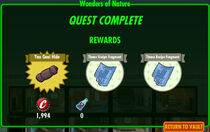 FoS Wonders of Nature rewards
