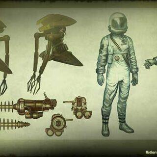Alien robot and tech concept art