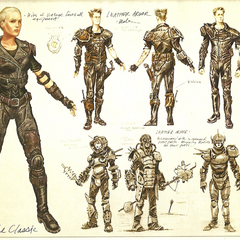 Leather armor concept art of <i><a href=