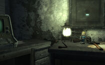 Bethesda ruins East office Bobblehead - Lockpick