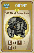FoS X-01 Mk VI Power Armor Card