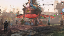 Diamond City Christmas style FO4