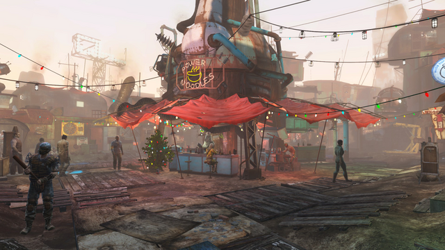 File:Diamond City Christmas style FO4.png