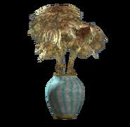 Teal barrel vase