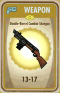 FoS Double-Barrel Combat Shotgun Card