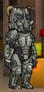 A male vault dweller wearing the X-01 Mk IV power armor