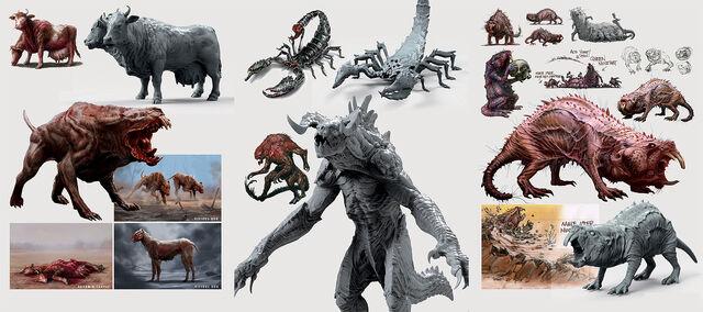 File:Fo4 creatures concept art.jpg