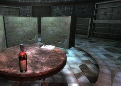 Drugged wine in cellar