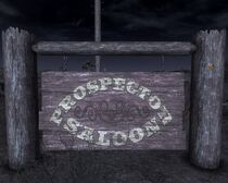 Prospector Saloon sign