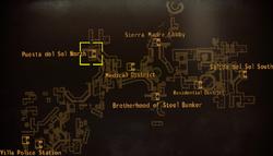 DM Puesta del Sol north map