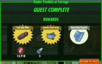 FoS Raider Troubles at Corvega rewards