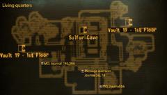 Vault 19 map living quarters