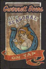 Fo4 Poster Theater (Gwinnett Beers New seasonal brew on tap)