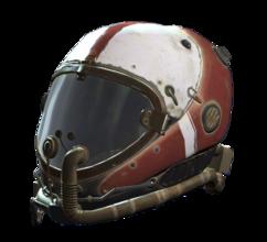 Red flight helmet