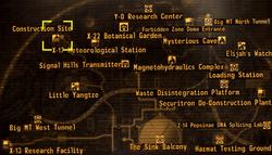 Construction site map