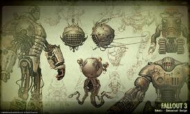 Fallout 3 Robot Concept Art