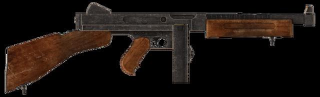 File:.45 Auto submachine gun with the drum magazine modification.png