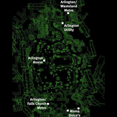 Arlington Cemetery map