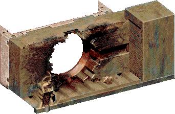 File:Fo1 Vault13doordamaged.png