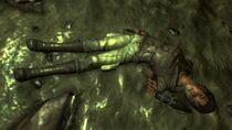 Dead prospector at blackrockcave