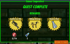 FoS Science Cooperative! rewards A