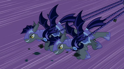 Batpony guards