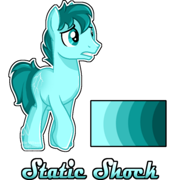 Mlp oc static shock reference by mychelle-d9mt39m