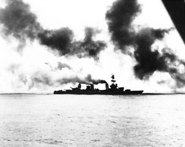 File:USS Salt Lake City (CA-25) in action.jpg