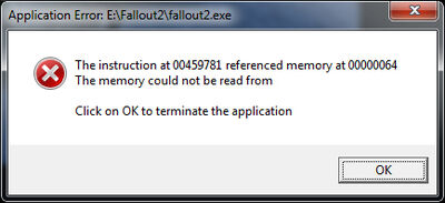 Fallout2 Error (On Loading Saved Game)