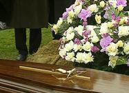 De begrafenis van Peter Van den Bossche