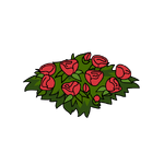Decoration flowerbed red thumbnail@4x