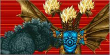Godzilla fights King Ghidorah