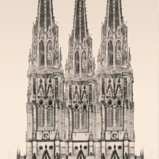 The Avenir Cathedral, built between 1409 and 1790, is situated in southern Stonebrook near Centenary Green. The Cathedral was bombed in World War II, which caused severe damage and the loss of the two spires at the front. The stained glass miraculously all survived. The damage could also be ascribed to the damage of the Minton tiling in the main Cathedral hall, which was brought on by the falling debris.