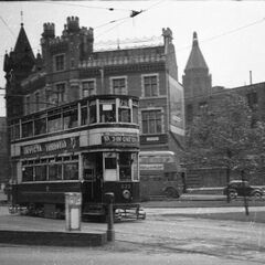 One of the old trams of West Street. The open space of land therebehind has since been built on, once in 1965 and again in 2014.
