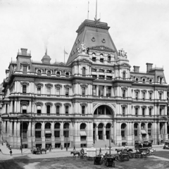 Northern Heights Town Hall, which stands in Huxby Square in the immediate vicinity of Huxby Street; still stands today