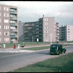 Bethnall Bank Road, built on a flattened slum estate