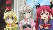 From left to right: Hasuta, Nyaruko, and Kuuko
