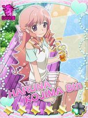 Chiharu sakuragi as kojima haruna or nyan nyan before transfrom as cure cute