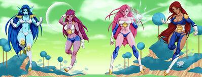 Freeza s new ginyu girls by fooray-d4s76b9