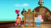 Hook and Smee with the shell collection