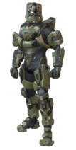 The armor Chandler wore when he reported to the Deliverance as Spartan Commander
