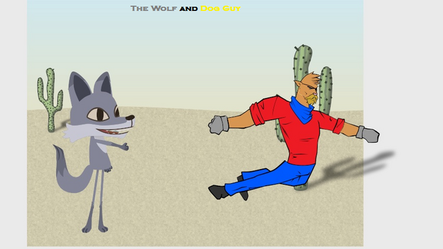 File:The Wolf and Dog Guy Promo Image.png