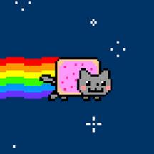 Nyan cat 250px frame