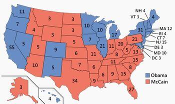 US Electoral College 2008 Parallel Universe