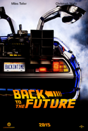 Back to the future remake poster