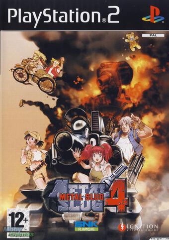 Metal Slug 4 PS2 Cover