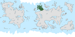 Location of Scandavia on the world map.