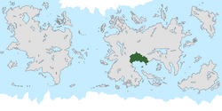 Location of Demacia on the world map.